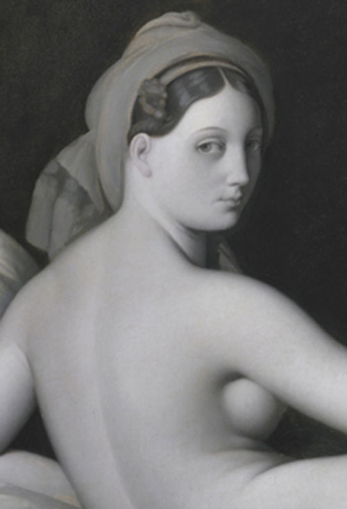 Jean Auguste Dominique Ingres, Odalisque in Grisaille (Ausschnitt), um 1824-1834, Öl auf Leinwand, 83,2 × 109,2 cm, The Metropolitan Museum of Art, Catharine Lorillard Wolfe Collection, Wolfe Fund, 1938 / Foto: © bkp ǀ The Metropolitan Museum of Art